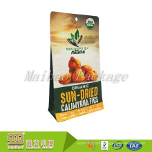 Snack Food Packaging Custom Printed Heat Seal Laminated Foil Lined Zip Lock Resealable Flat Bottom Pouch