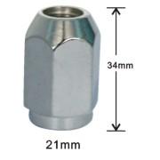 Flat top 20mm 19mm hex wheel lug nut