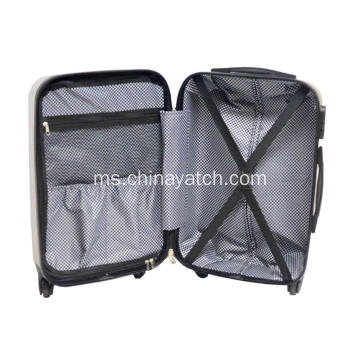 ABS Scratch & Printed Carry-on Trolley Case