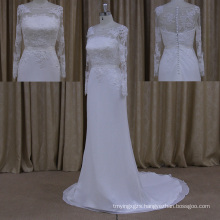 2015 Wholesale V Neckline Backless Wedding Dresses China Chiffon