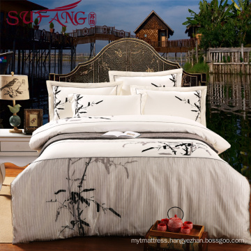 Chinese style top 5 luxury 5 star hotel High Quality Hotel Bedding Linen Supplier 60s100% Cotton emboridery Bedding Sets