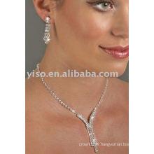 Ensemble de bijoux en strass à 3 gouttes