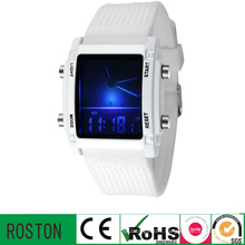 Fashion Plastic LED Square Watch with Waterproof 3ATM