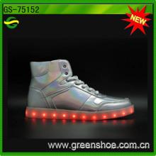 2016 zapatos ligeros de la moda LED cobrable