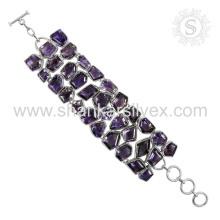 Scrumptious design amethyst silver bracelet gemstone jewelry wholesaler 925 sterling silver bracelets wholesale jewellery