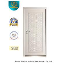 Porta de segurança estilo moderno com cor branca (B-3011)