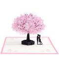 FQ marque en gros mariage salutation 3d pop up sakura carte