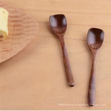 cuchara de medición de café de función de madera