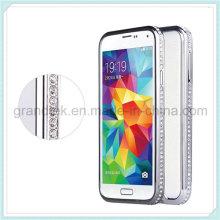 Diamond Crystal Bling Aluminum Bumper Case for Samsung Galaxy S5