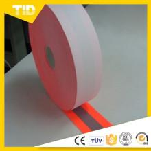 100% algodón respaldo Fluo naranja Flame Retardant Warning Tejido reflectante utilizado para prendas de seguridad