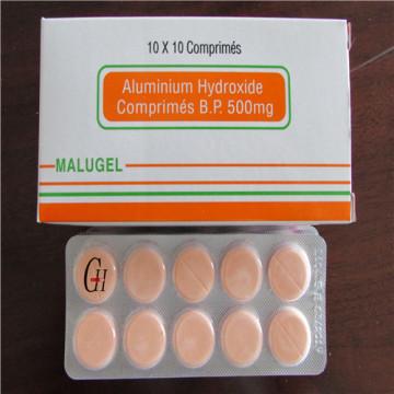 Comprimés d'hydroxyde d'aluminium 500 mg