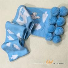 Высокое качество 100% кашемир вязаный зимний шарф с карманами и помпоном