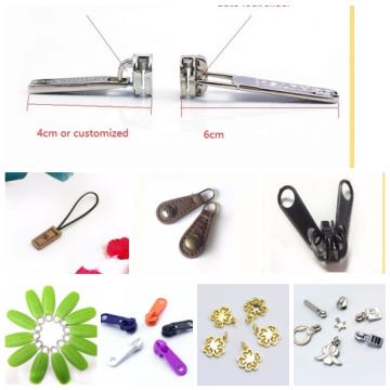 Custom metal zipper slider puller with non lock