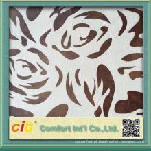2015 tecido de venda quente do sofá de veludo da tela de estofamento do Chenille do poliéster do projeto novo