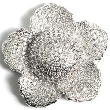 Moda cubic zircão acessórios flor acessórios para colar jóias DIY
