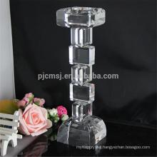 Economical custom design long stem clear glass wedding tealight candle holder