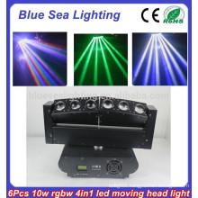 6 x 10W RGBW 4-in-1 led rgb dmx mini moving head