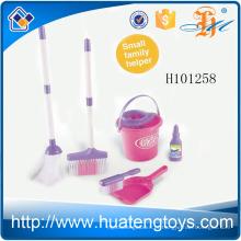H101258 Miúdos pré-escolares do ajudante pequeno fingem a casa de brinquedo plástica que limpa ferramentas para a venda