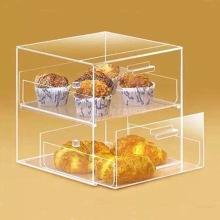 2 Tray Acrylic Bakery Food Display Case
