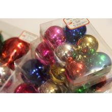 6Pack Assorted Color Brilhante Bola de Natal Ornamento