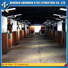 Estruturas de aço pré-fabricadas Estrutura de construção de estábulos