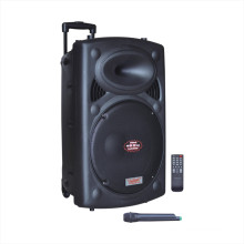 Trolley Speaker Portable Speaker 6827D with Wireless Micphone