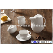 ECO-Friendly drinkware ceramic tea pots sets, tea coffee set sale