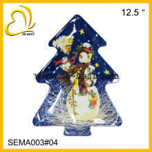 Christmas tree shape melamine plate, tree shape plate