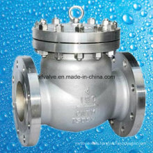 API6d 150lb Válvula de retención de colada de extremo de brida de acero inoxidable
