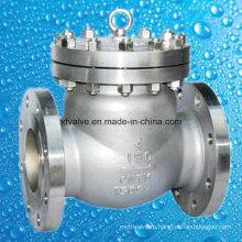 API6d 150-литровый обратный клапан с фланцевым фланцем из нержавеющей стали