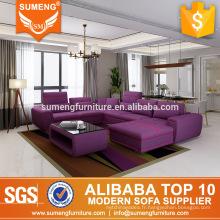 SUMENG canapé inclinable inclinable en tissu haut de gamme violet