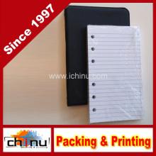 Carpeta pequeña de 6 anillas negra con paquete de 100 hojas rotadas (520051)