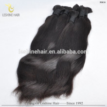 Cuticle Intact Unprocessed Black Real Human Raw Bulk Hair Unweft From Indian Young Ladey Wholesale