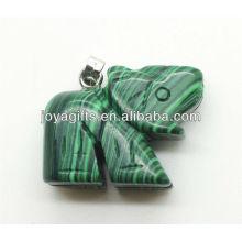 Qualitäts-natürlicher Malachit-Elefant-Anhänger-halb kostbarer Steinanhänger