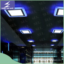 Hot Selling Blue Red Green Edge 2 couleurs LED Panel Light