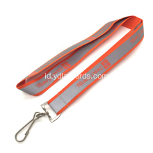 20mm Orange Reflective Jenis Lanyards yang Dipersonalisasi