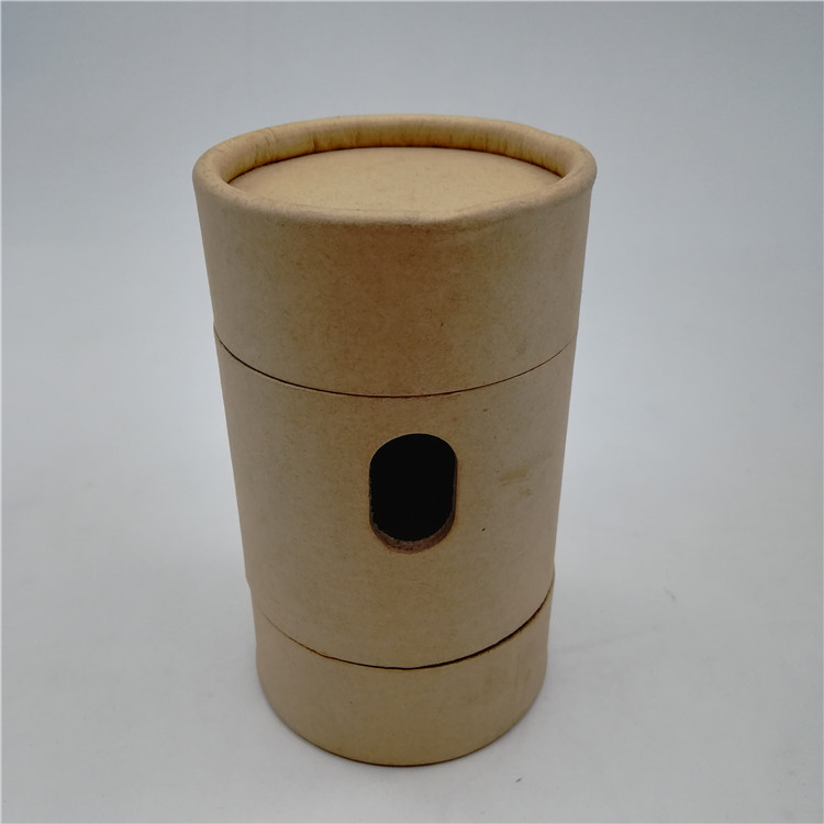 Brown Kraft Cylinder Tube Box