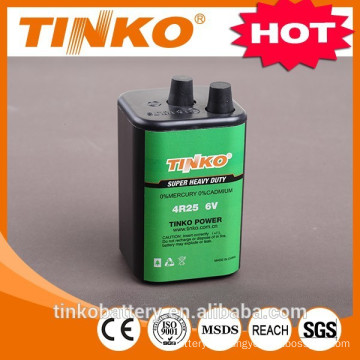 OEM welcomed super heavy duty battery 4R25 6V