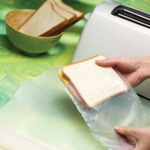 brown or black teflon coated super clean toast bag for Sandwich maker