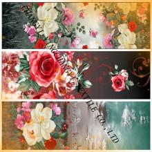 Bright flower designS 50-140g print fabric