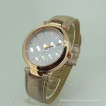 Modern Lady Bewegung Leder Brecelet benutzerdefinierte Armbanduhr