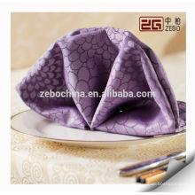 Tissu de serviette de table de luxe de luxe