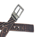 Embossed Business Pure Leather Belt Genuine Leather Belt for Men