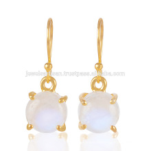 Magnifique Rainbow Moonstone Prom set Gemstone 925 Silver Gold Vermeil Jewelry
