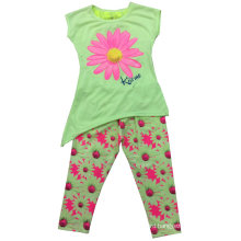Summer Sun Flower Baby Girl Children′s Suit for Kids Clothes SGS-110