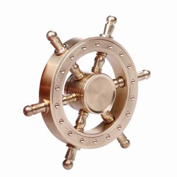 2017 Новый дизайн Solid Brass Gold Rudder Fidget Spinner Игрушка Finger Hand Fidget Spinner