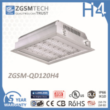 TUV Approved 120W Recessed LED Gas Station Light