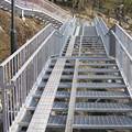Mild Steel Stair Tread con anti-Slip Nosing
