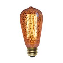 St58 Goldene Vintage Edison Birne mit 19 Ankern