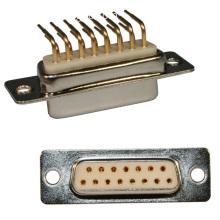 D-SUB R A FEMALE MACHINE PIN 7.2mm FOOTPRINT